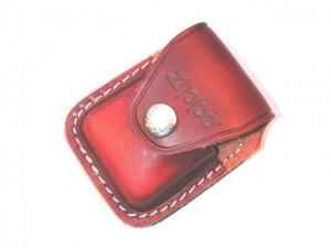 特价zippo打火机专用黄色皮套(不锈钢卡扣)