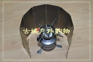 CAMPINGMOON硬化铝8片挡风板