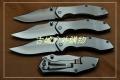 三刃木2014新款-全钢拉丝框架锁折刀7030LUC