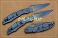 代工蜘蛛SPYDERCO BY-03 大鸟黑全钢柄背锁战术折刀