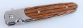 关铸GANZO G743线锁原木柄折刀