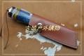 手工锻打骆驼骨北欧高硬度大马士革花纹钢猎刀