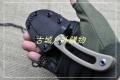 三刃木新品-塑鞘直柄小刀7132FUF-GH小直刀(泥色钢本刃和黑色和橙色可选)