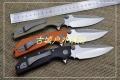 精仿微技术DOC高硬度D2钢G10手柄折叠刀
