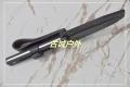 三刃木牛皮硬鞘镂空G10柄S731砂光小直刀
